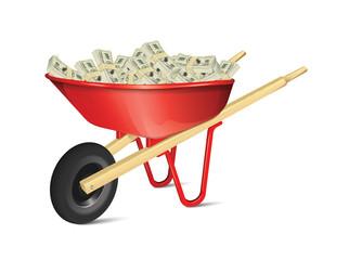 Wheelbarrow With Money