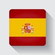 Web button with flag of Spain