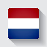 Web button with flag of Netherlands