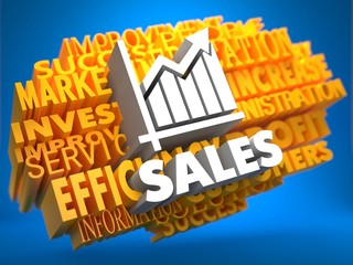 Sales Growth. Wordcloud Concept.