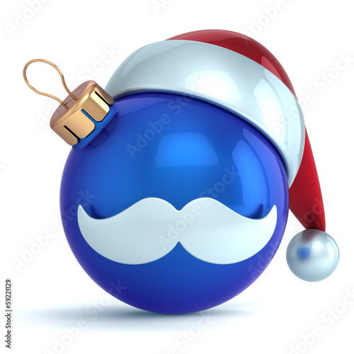 Christmas ball ornament Santa hat New Year bauble decoration