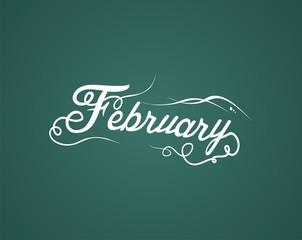 february hand lettering