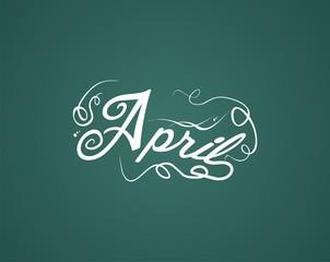 april hand lettering