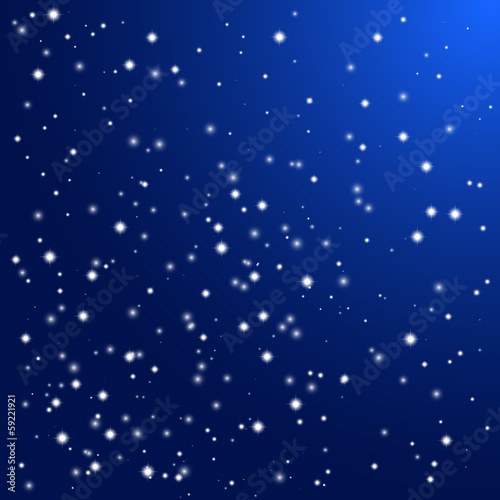 Night sky with stars. Vector background