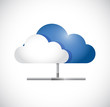 cloud computing pipe network illustration