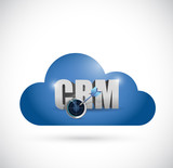 cloud computing crm sign illustration design