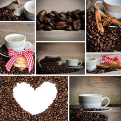 collage zum tehma kaffee