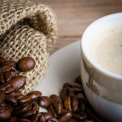 bohnen und kaffee