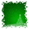 Christmas tree from green snowflakes