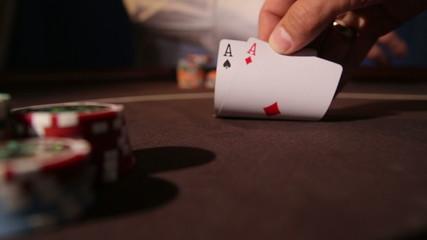 Casino. Dealing cards