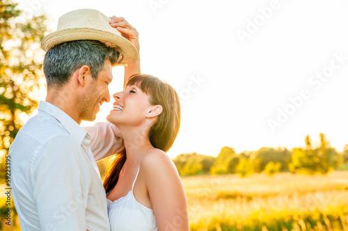 love couple sunset