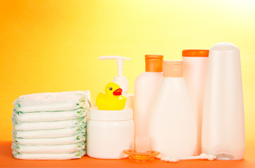 Cosmetics bottle for care of newborn and diapers