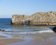 Bay of Biscay beach in low tide.Cantabria,Spain.