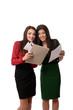 Business women doing paperwork