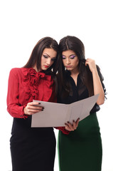 Young business women doing some paperwork