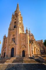 Facade of the Ghajnsielem parish church in Gozo, Malta