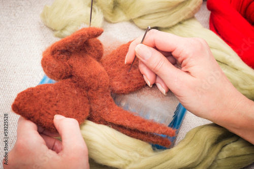 Felting wool as a hobby