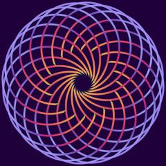 spirituellles Mandala im Netzmuster