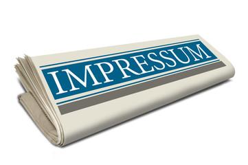 Zeitungsrolle mit Impressum
