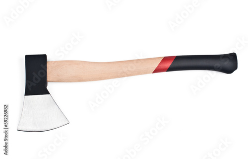 New ax on a white background