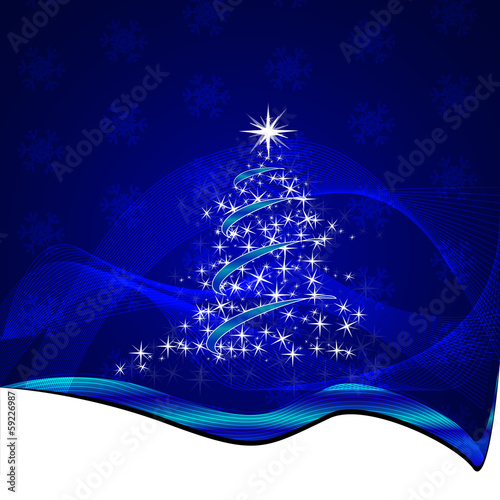 Vector christmas illustration with abstract background