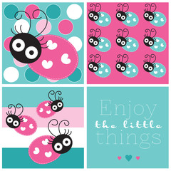 Cute ladybird vector illustration