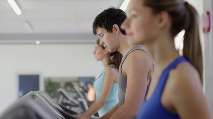 4of27 People training in fitness club, gym and sport activity