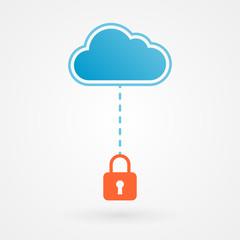 Cloud and padlock