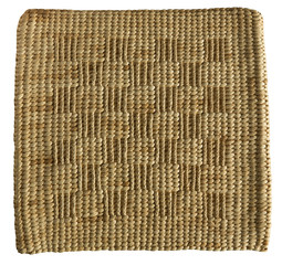 Raffia rug isolated