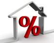 Постер, плакат: Процент по ипотеке Концепция