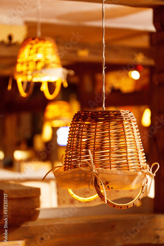lamp in the restaurant