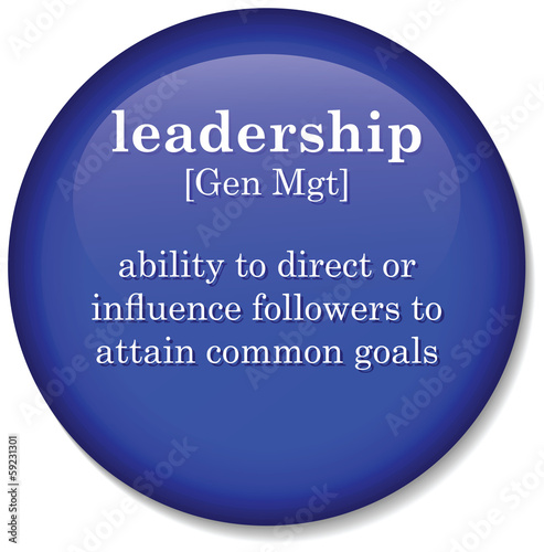 dictionary definition of the term leadership