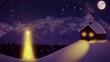 Alm in der Winternacht