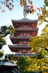 Five storied Pagoda of Senso-ji temple, Asakusa, Tokyo, Japan