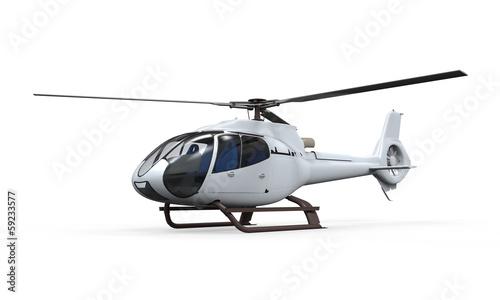 Leinwanddruck Bild Helicopter Isolated