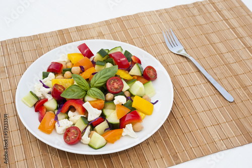 Chickpea and Vegetable Salad