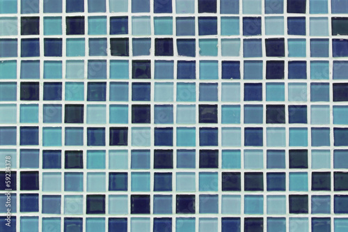 pattern of blue ceramic wall