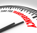 Time for Transparency Clarity Honest Forthright Clock poster