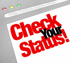 Check Your Status Online Web Site Update Position