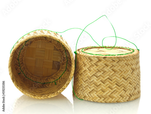 Bamboo Rice on white background