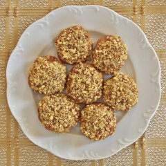 melomacarona, Greek Christmas cookies with walnuts and honey
