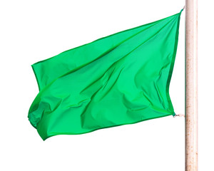 Green flag  over white