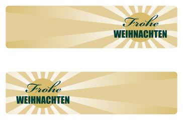 frohe weihnachten goldstrahlen banner