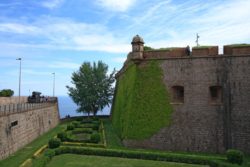 Montjuic Castle in Barcelona, Spain