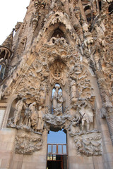 The Portal of Charity of The Sagrada Familia