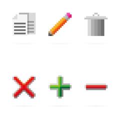 Vector pixel icons