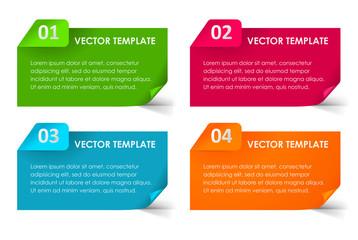 Set of Vector Paper Progress backgrounds. EPS 10 + jpg