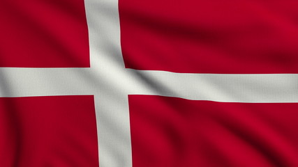 Flag of Denmark looping