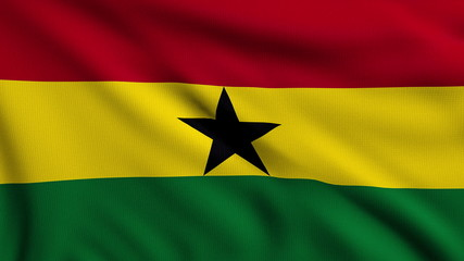 Flag of Ghana looping