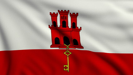 Flag of Gibraltar looping